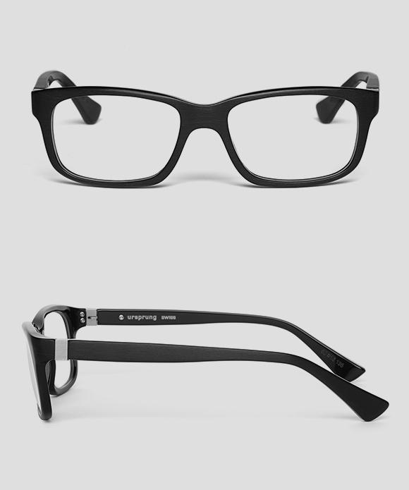 ursprung-swiss Eiger Brille (Front und Seite) beim Optiker Waldegg
